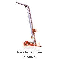 Najam kose hidraulične dizalice - Iznajmljivanje strojeva