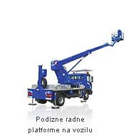 Podizne radne platforme na vozilu - Rabljeni strojevi