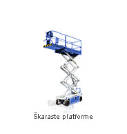Najam škaraste platforme - Iznajmljivanje strojeva